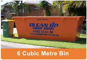6 cubic metre skip bin from Clean Up Skip Bins